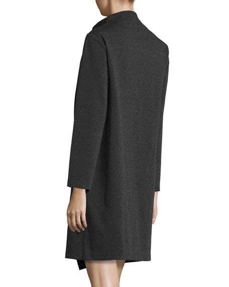 long sleeve drape dress joan vass long sleeve drape front knit dress plus size