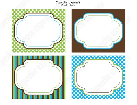 printable table label diy monkey birthday party printable food labels blue green