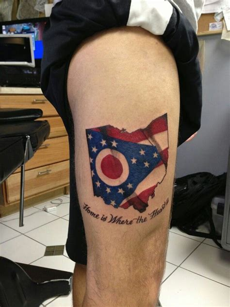 florida flag tattoo home is where the is state of ohio with the state