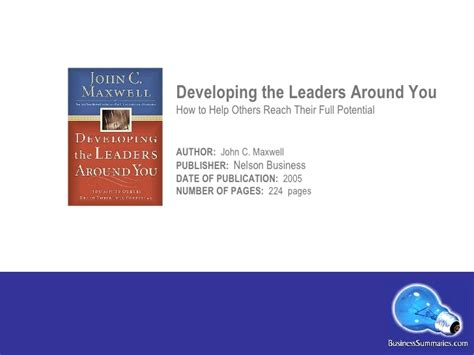 Developing The Leaders Around You developing the leaders around you
