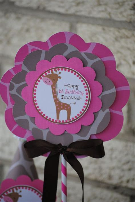 Pink And Brown Giraffe Baby Shower Decorations by 31 Best Images About Giraffe Baby Shower On Pink Brown Zoo Animals And Its A
