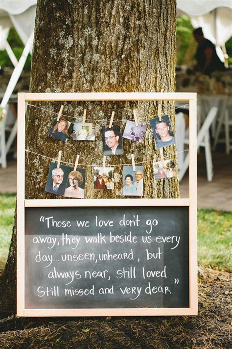 10 ways to honor deceased loved ones at your wedding