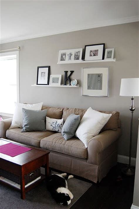 shelves over sofa picture ledge above couch our house pinterest
