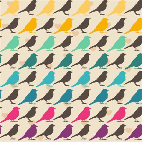 pattern bird art colorful birds pattern art print by mrs opossum image