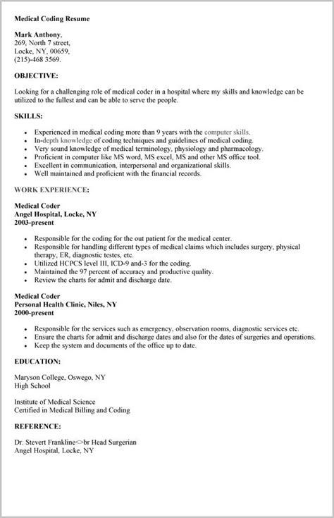 billing and coding resume fiveoutsiders