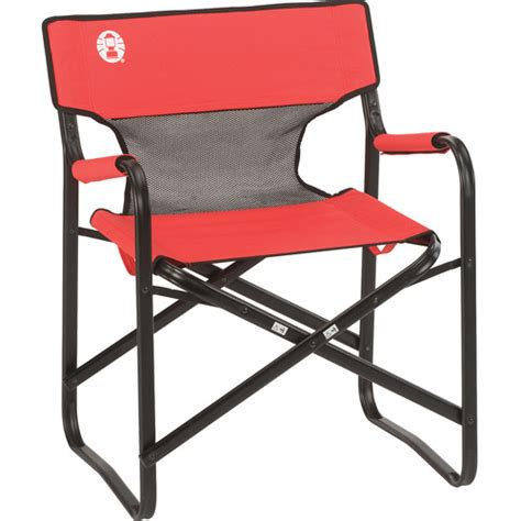 coleman steel deck chair coleman steel deck chair with mesh back panel walmart