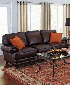 martha stewart leather sofa martha stewart bradyn leather sofa living room furniture
