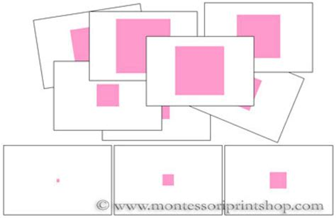 montessori printable files pink tower cards centered montessori sensorial cards