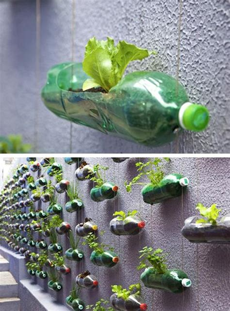 garden recycle ideas how to recycle plastic bottles for outdoor home decorating