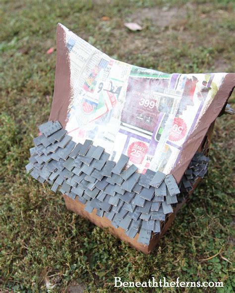 how to make a fairy house how to make a fairy house roof with shingles beneath the ferns