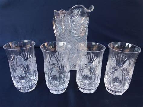servizio bicchieri cristallo di boemia boemia servizio da acqua caraffa e bicchieri 5 pezzi