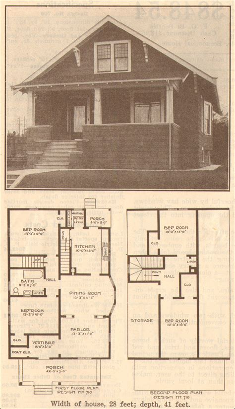 Colonial Style Floor Plans 1915 bungalow classic hewitt lea funck co facing gable