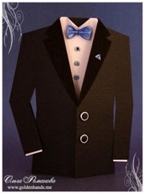 1000 Images About Cards Paper Folding Ideas Some Oragami On Pinterest Origami Tuxedos Paper Tuxedo Template