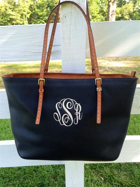 monogram purse bag tote monogram black pocketbook black