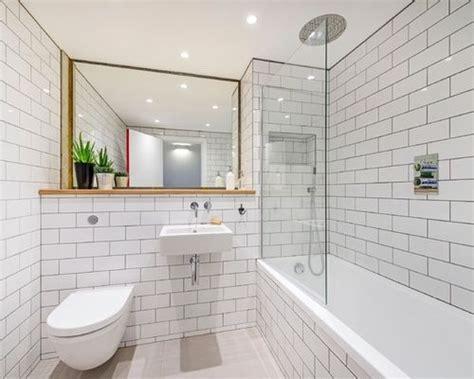 kohler untermount badezimmer sinkt subway tile walls houzz