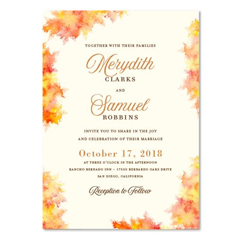 Fall Color Wedding Invitations fall wedding invitations fall colors by foreverfiances