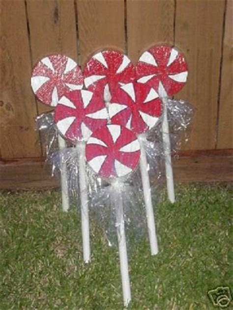 outdoor 8 diameter christmas lollipops 34 best yard ornaments images on crafts and deco