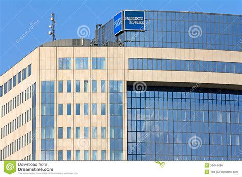 bank of america frankfurt american express company building editorial photo image