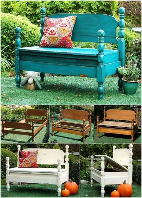benches made from old beds 23 amazing ways to repurpose old furniture for your home