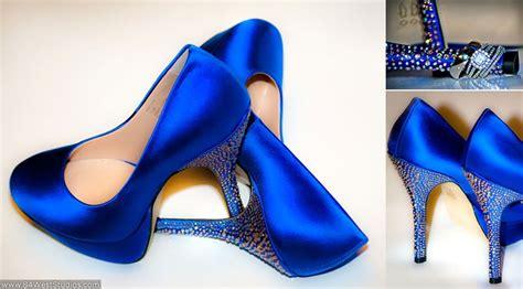 blue satin high heels royal blue satin wedding high heels with stem