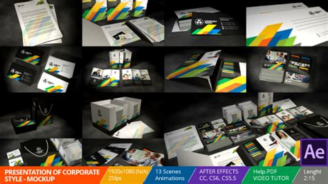 Videohive Presentation Of Corporate Style Mockup Download Free After Effects Templates Bourne Identity Style Free After Effects Template