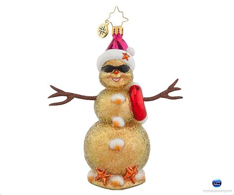 1018017 christopher radko ruby sandy christmas ornament