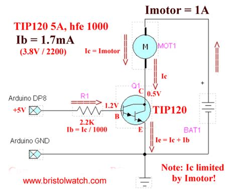 darlington transistor circuits tutorial tip120 tip125 power darlington transistors