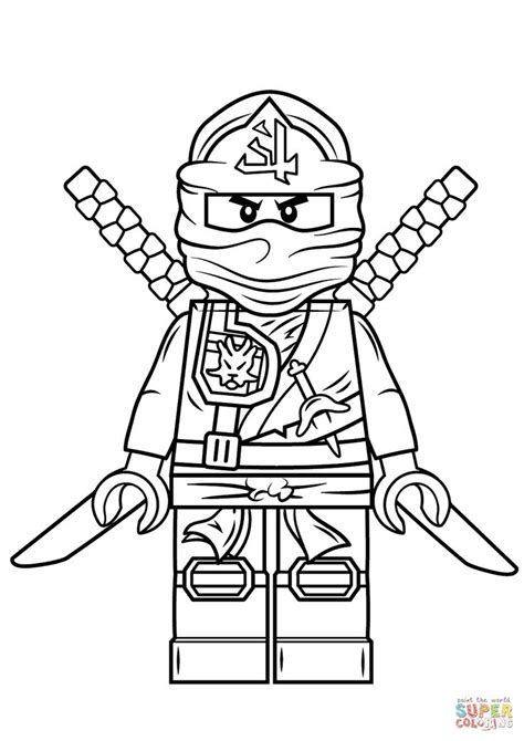coloring page of ninja lego ninjago green ninja super coloring ninjago