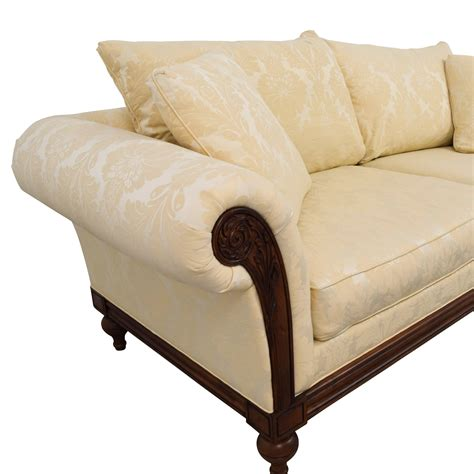 ethan allen wood frame sofa ethan allen sofas canvas customer slipcover for ethan