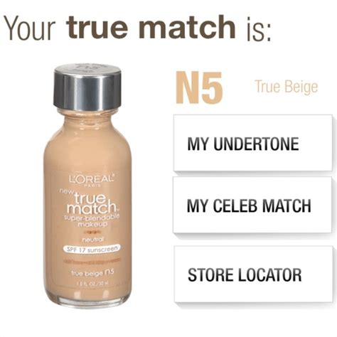 Would You Match Your Lipstick To Your by L Oreal L Oreal True Match N5 True Beige Foundation