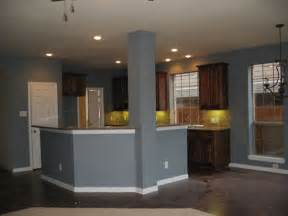 Blue Kitchen With Oak Cabinets by Grey Blue Kitchen Paint Colour Paint Ideas Pinterest