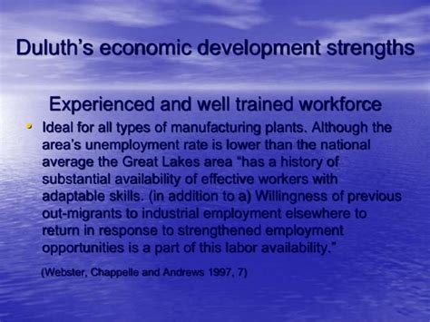 Mba Economic Development by Duluth Economic Development Policy Presentation