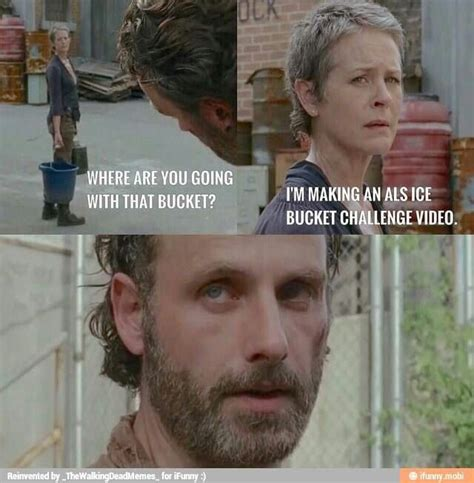 Carol Meme Walking Dead - carol s ice bucket challenge the walkimg dead funny meme