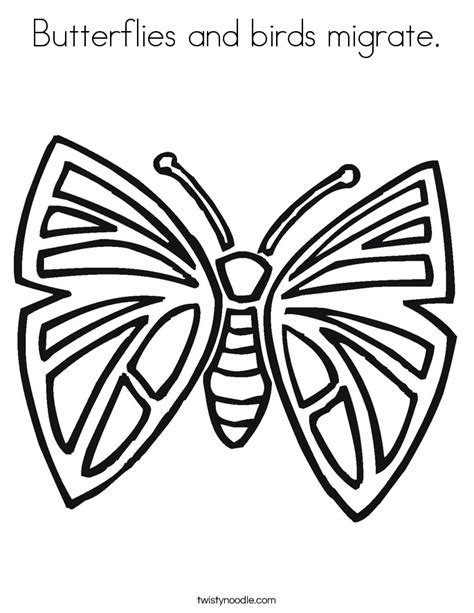 coloring pages of birds and butterflies butterflies and birds migrate coloring page twisty noodle
