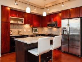 kitchen ideas with cherry cabinets cherry cabinets with wood floors wood floors