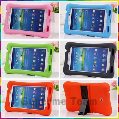 Samsung Galaxy Tab 7 Shockproof Silikon Soft Casing Cover children shockproof safe soft silicone handle stand cover for samsung galaxy tab 3 7 0