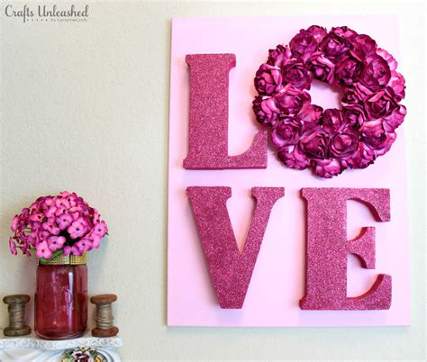diy valentines crafts for decor tutorial valentines wall crafts unleashed
