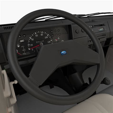 subaru libero interior 3d model realistic subaru libero 1990