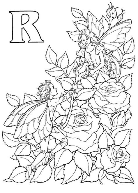 flower fairy coloring page kids coloring book pinterest