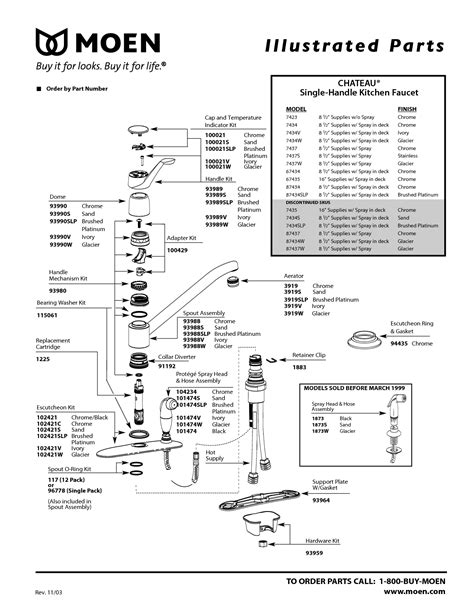 moen faucet repair diagram 7400 kitchen sprayer handle moen faucet 7400 diagram