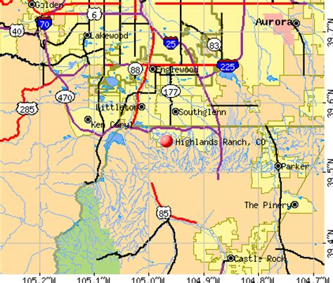 highlands ranch colorado map highlands ranch colorado co profile population maps