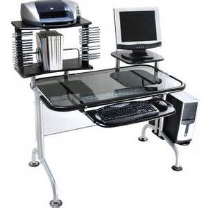 Computer Desk For Sale At Walmart Walmart Innovex Glass Computer Desk With Cd Rack