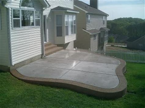 Patio with Traditional Concrete, an Exposed Aggregate