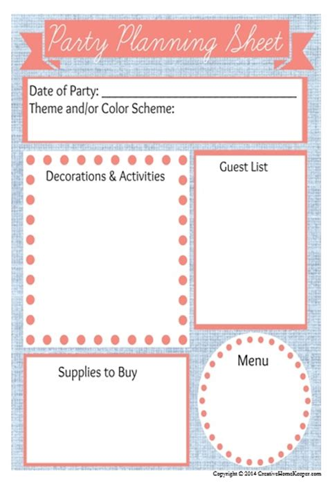 how to plan a party at home planning birthday parties on a budget plus a free