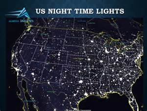 Us Map Of Lights At Images High Resolution Satellite Photo - Us map night