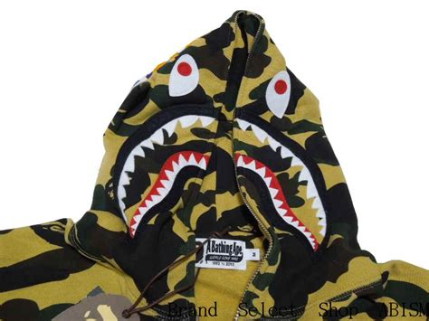 Original A Bathing Ape 1st Camo Zipped Shark Hoodie brand select shop abism rakuten global market a bathing