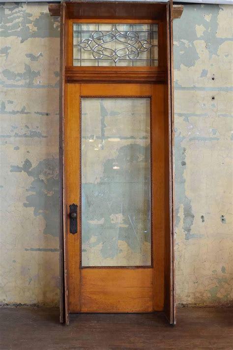 quartersawn oak victorian exterior doors  transom