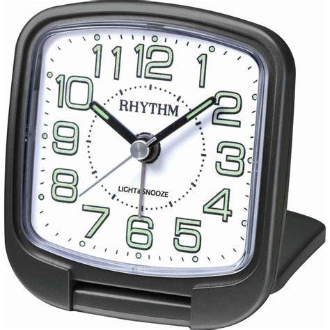 alarm clock rhythm travel snooze sweep light black alarm clocks