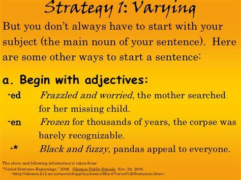 Starts Sentence by Sentence Fluency