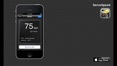 servespeed iphone app  measure  tennis serve speed